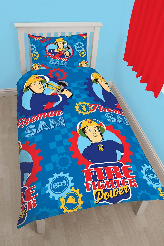 feuerwehrmann sam kinder bettw sche f r jungen bettbezug 135x200 kissen 48x74 ebay. Black Bedroom Furniture Sets. Home Design Ideas